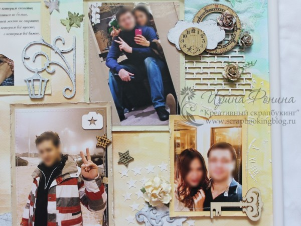 Коллаж из фотографий в раме - украшения