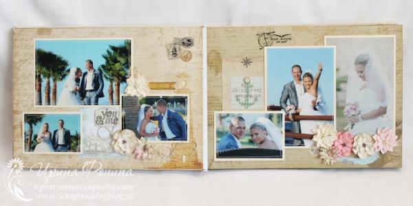 Свадебный скрапбукинг - страница с цветами