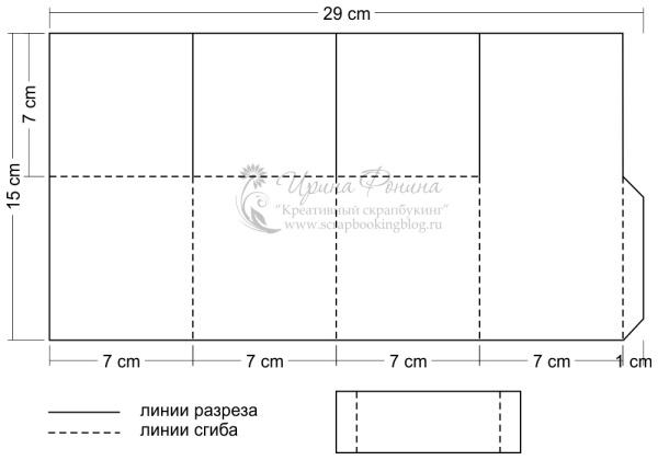 Открытка-коробочка - схема