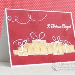 Новогодняя открытка с подарками