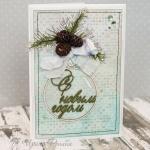 Новогодняя открытка с шишками