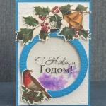 Новогодняя открытка-шейкер