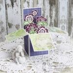 Удивительные открытки - коробочка с цветами