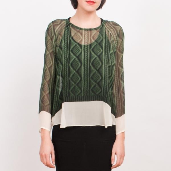 Вязаный тренд - блуза