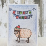 Новогодняя открытка с овечкой