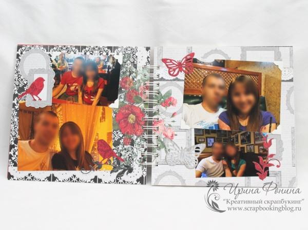Фотоальбом для влюбленной пары - птички и бабочки
