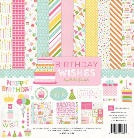Echo Park Birthday Wishes Girl