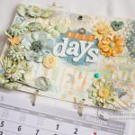 Настенный календарь в стиле миксд-медиа