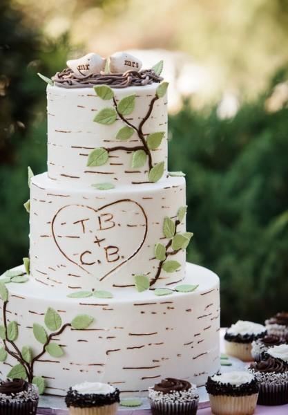 Свадебный торт рустик