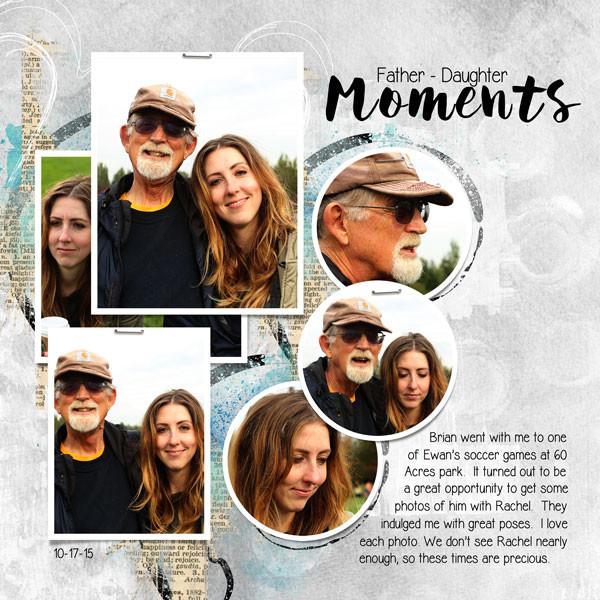 Цифровой скрапбукинг - страница отец и дочь