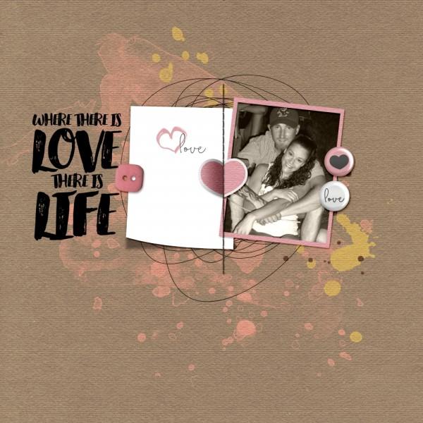 Цифровой скрапбукинг - страничка про любовь