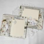 Страницы в альбом из бумаги Розовый сад