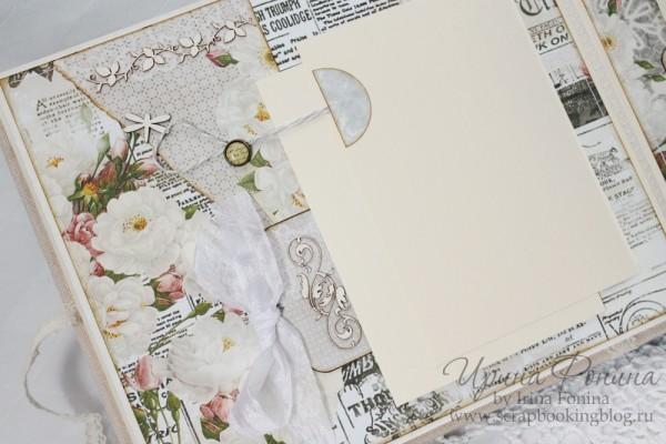 Альбом для фотографий - цветы и ленты