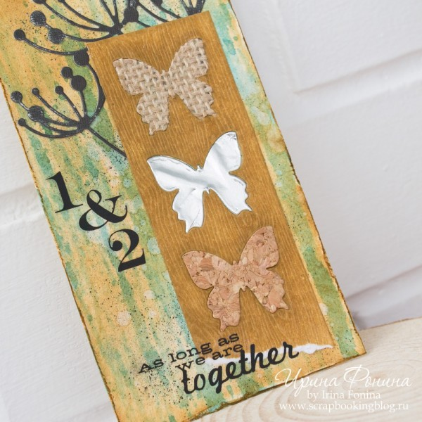 Tag with butterflies - die cutting