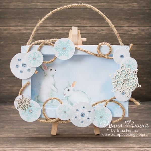 Объемная рамочка со снежинками