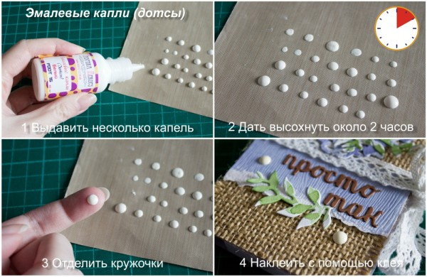 Как использовать эмалевые капли