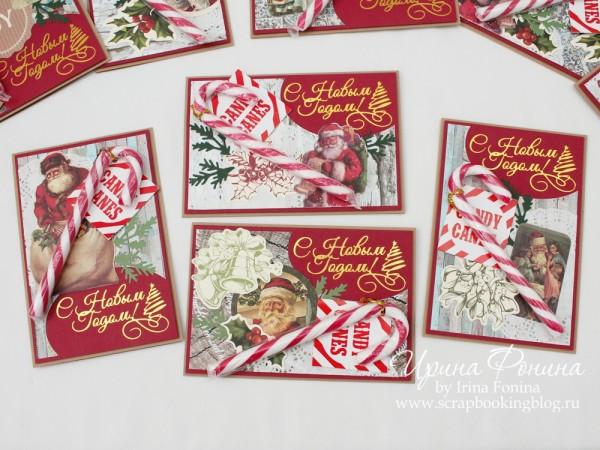 Новогодние открытки с леденцами - 1