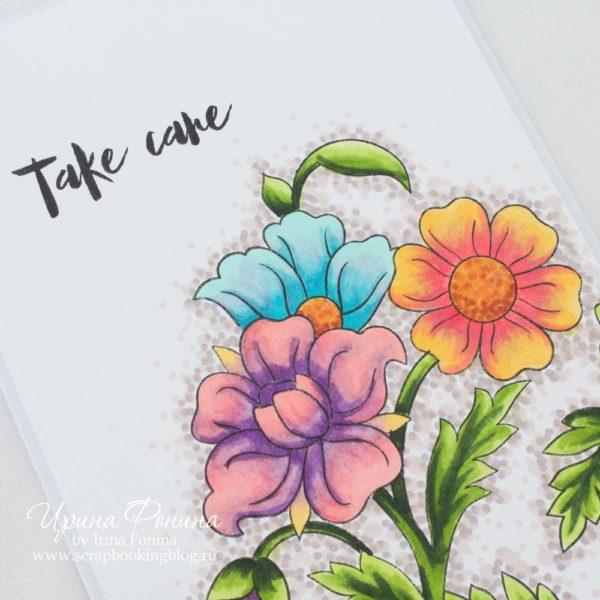 Altenew- Marker Coloring Card - 2