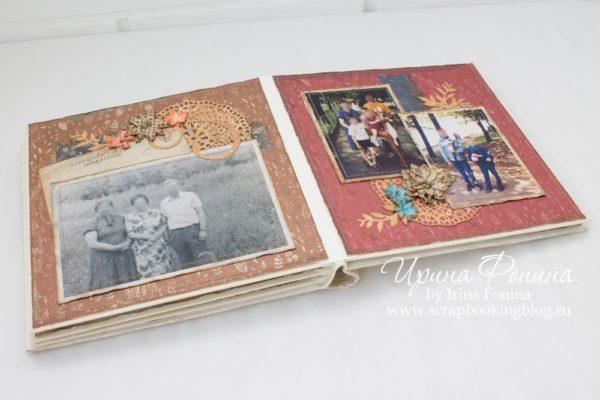 """Скрапбукинг - альбом """"30 лет и 3 года"""" - семейный архив"""