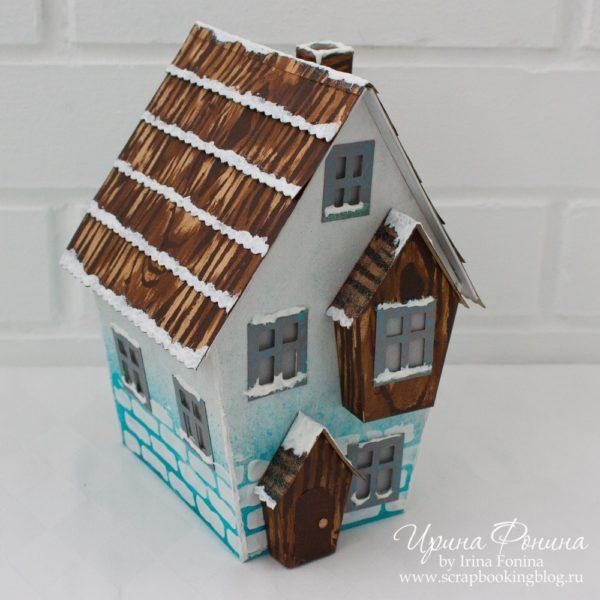 Зимний домик из бумаги - 02