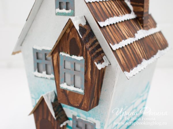 Зимний домик из бумаги - 04