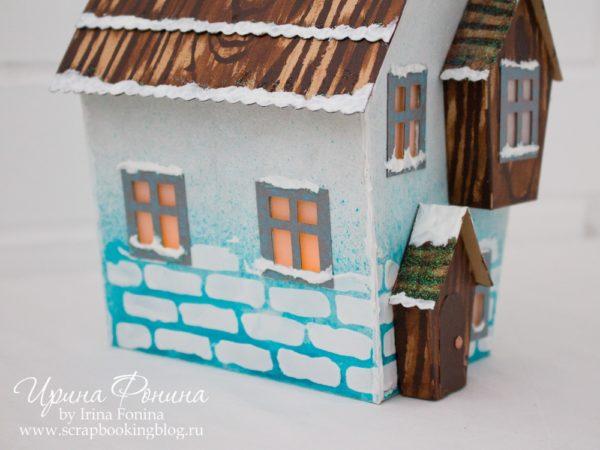 Зимний домик из бумаги - 05