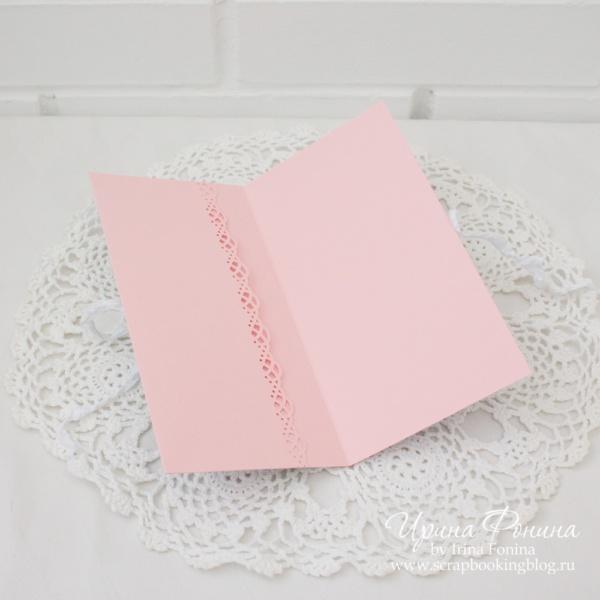 Свадебная открытка-конверт в коробочке - 6