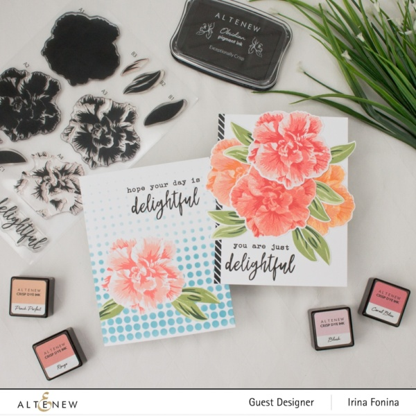 Altenew Build-A-Flower: Camellia Japonica Release Blog Hop - 05