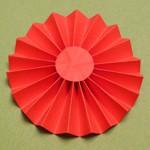 Цветок-розетка из бумаги