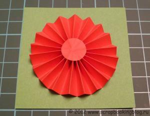 Цветок-розетка из бумаги - Готовая работа