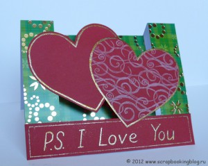 Открытка-валентинка P.S. I Love You