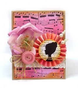 Пример открытки с розеткой