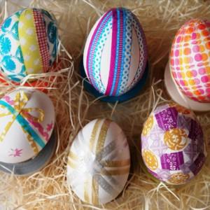Washi Tape для украшения пасхальных яиц