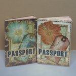 Обложки на паспорт в стиле скрапбукинг