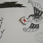 Арт-журнал, урок 8, птица