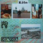 Альбом о путешествии - страница про Кельн