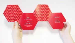 Приглашение из шестиугольников