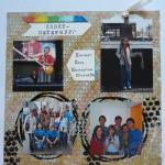 Страница про поездку в Питер в альбом о путешествиях