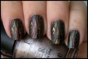 Текстура дерева - дизайн ногтей