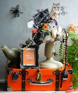 Композиция для домашнего декора на Хеллоуин