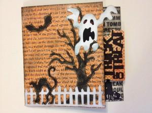 Хеллоуин: открытка с секретом
