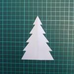 Как сделать шаблон ёлочки из бумаги