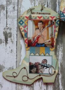 Альбом в форме сапога: третья страница
