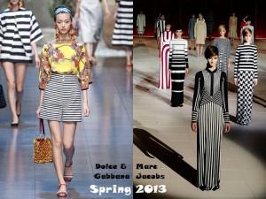 Полоска на модный показах коллекций весна-2013