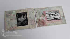 Шебби-альбом для девочки: третий разворот