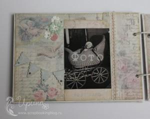 Шебби-альбом для девочки: пятая страница с флажками
