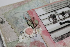 Шебби-альбом для девочки: фигурный край как у почтовой марки