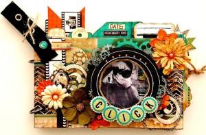 Альбом в форме камеры из бумаги Bo Bunny, новая коллекцяи Mama-razzi2