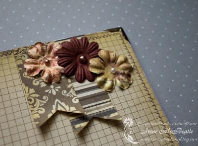 Альбом на жемчужную свадьбу: цветы Prima Flowers и полубусины