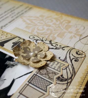 Альбом на жемчужную свадьбу: украшения из бумаги